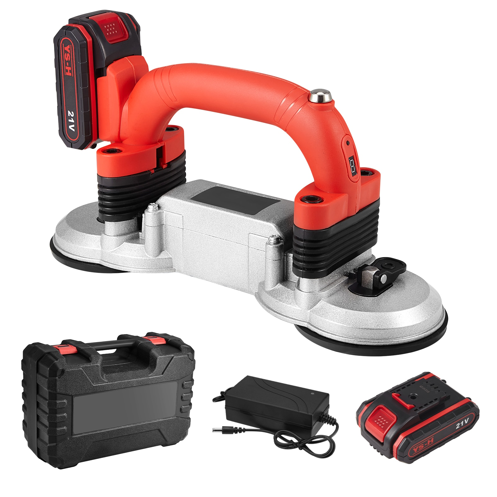 21V Professional Double Suction Cup Tile Tiler Machine Auto Tile Leveling Machine 2000mAh Lithium Battery Powered Tiling Tools