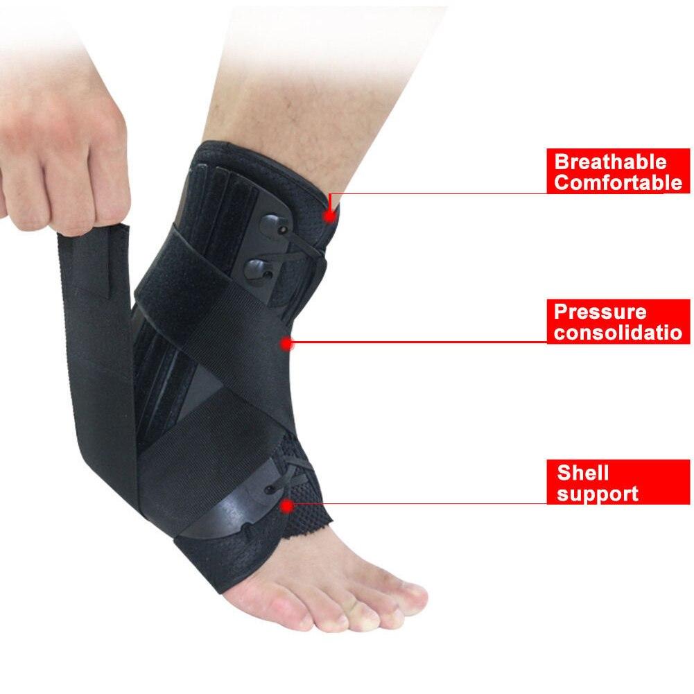 Tobillera con soporte estabilizador, correa de tobillo ajustable, Protector de acondicionamiento físico, ortopédico, para correr, Fútbol, Deporte, vendaje de protección de tobillo