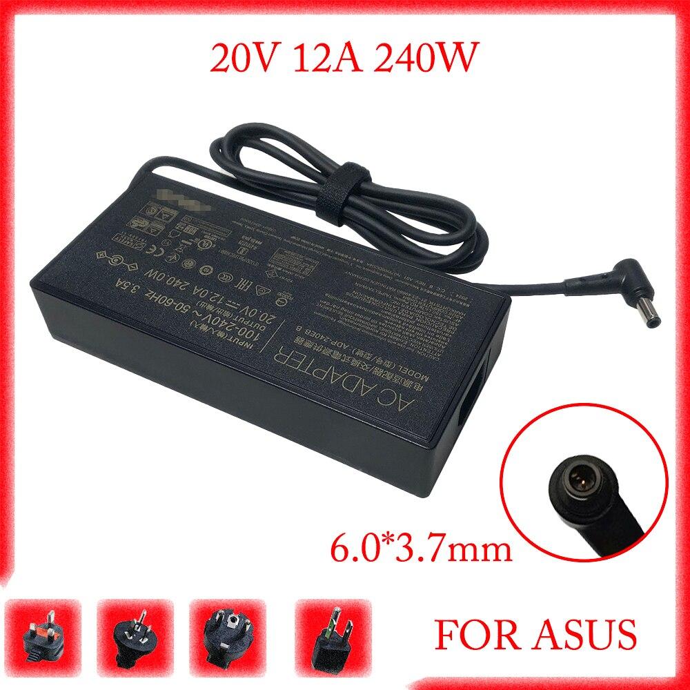 حقيقية ADP-240EB B 20V 12A 240W AC محول شاحن الكمبيوتر المحمول ل ASUS ROG 15 GX550LXS RTX2080 امدادات الطاقة 6.0x3.7 مللي متر