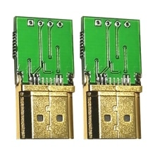 2PCS Virtual Display Adapter HDMI-Compatible EDID Dummy Plug Supports 4K GPU Emulator for Bitcoin BT