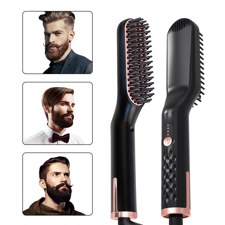 Hair Straightener For Men Beard Women Hairstyle Hot Heating Straightening Hairs Brush Comb Hair Straightener Iron