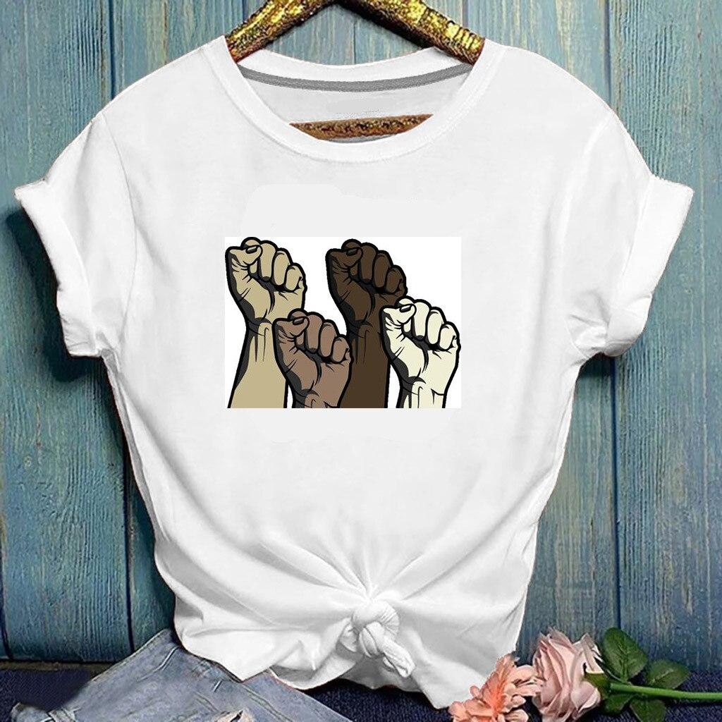 Rua Tendência das mulheres Estilo Solto Curto-de mangas compridas Mulher T-shirt Impressão 2020 O Pescoço Solto Top Camisa Curto da Luva T Das Mulheres Tops