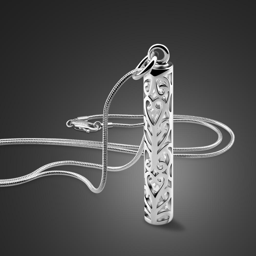 قلادة أنبوبية من الفضة الإسترليني عيار 2020 ، قلادة ، سلسلة ، 100% فضة استرلينية ، أسلوب بسيط ، إيطالي ، للرجال والنساء ، موديل 925