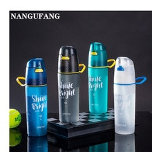 NANGUFANG/600ml water bottle plastic water bottle for outdoor sports fitness cycling hiking Portable