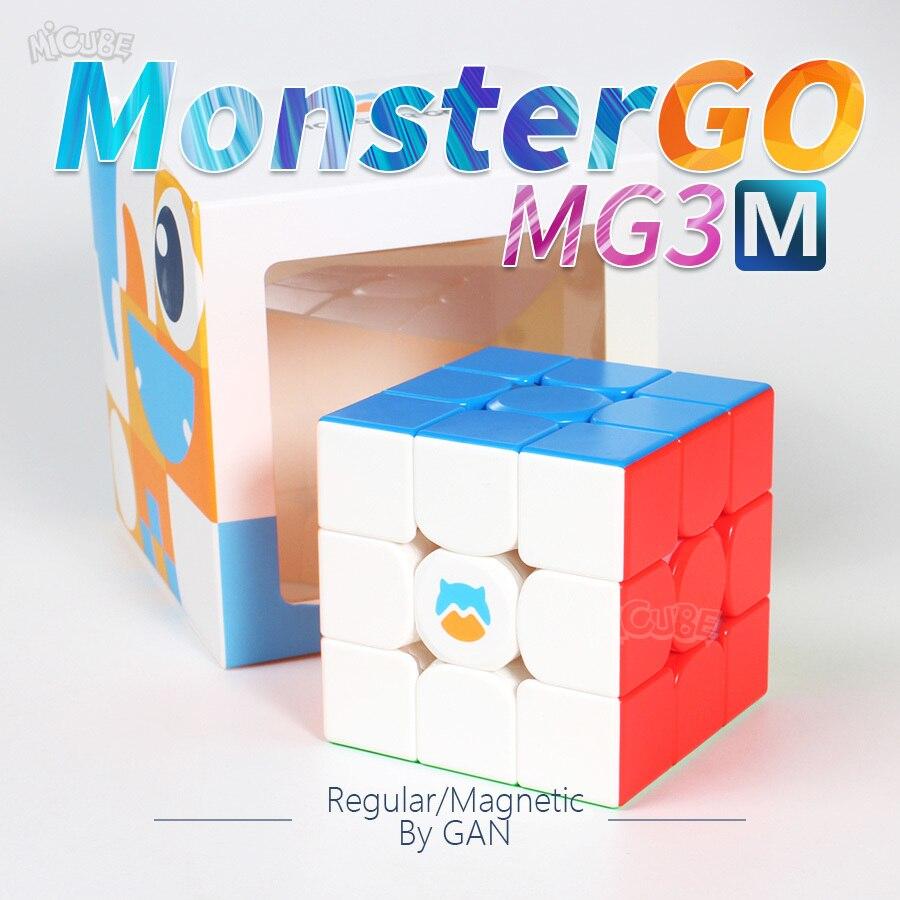 Cubo mágico de velocidad Monster Go Mg3 3x3x3 Gan MG356 3X3, Cubo magnético MonsterGo 3x3, rompecabezas Regular 3x3, juguete magnético