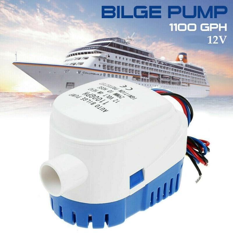 750gph 1100gph automatic boat bilge pump 12v 24v dc submersible electric water pump small 12v 750 1100 gph auto fast delivery 12V 1100GPH Marine Boat Automatic Bilge Water Pump RV Auto Submersible Pump