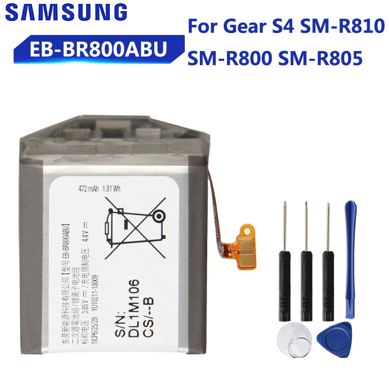 Original Replacement Battery EB-BR800ABU EB-BR810ABU EB-BR170ABU For Samsung Gear S4 SM-R800 SM-R810 SM-R805 SmartWatch Battery enlarge