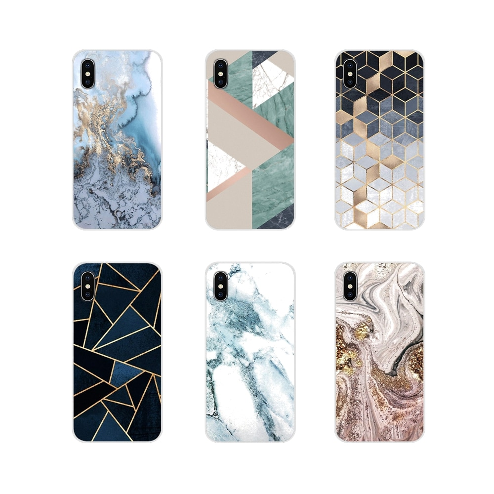 Funda de piel transparente de TPU de mármol dorado brillante para Samsung Galaxy S3 S4 S5 Mini S7 S6 Edge S8 S9 S10 Lite Plus Note 4 5 8 9