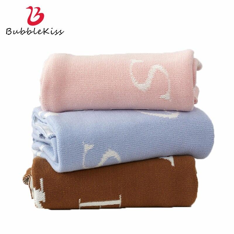 فقاعة قبلة الشمال نمط أريكة دثار محبوك بلون إلكتروني تصميم نمط رمي بطانية القطن الأطفال النوم بطانية
