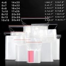 200 pcs/Lot clair fermeture éclair sac en plastique emballage poches étanchéité fermeture éclair sacs en plastique bijoux/alimentaire ziplock sac de stockage