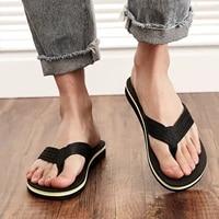 mens summer beach breathable shoes sandals home slipper flip flops flat shoes non slip flat beach flip flops for men chaussures