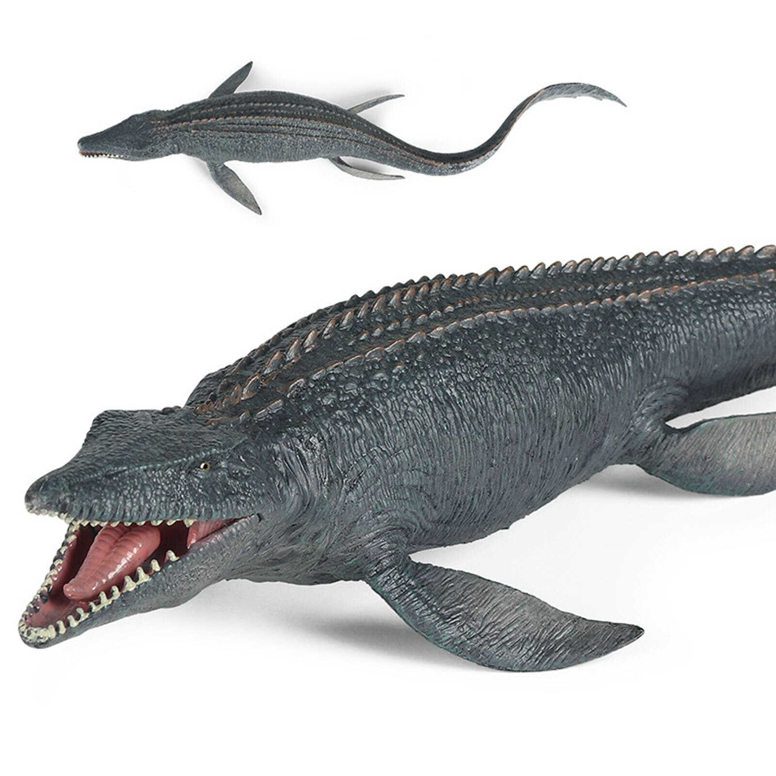 1pc Mosasaurus Dinosaur Figure Plastic Realistic Ocean Animal Model Washable Dino Toys For Boys Children Home Decoration lifelike dinosaur model static solid mosasaurus dinosaur realistic figures perfect toys decoration for party favor kid toy gift