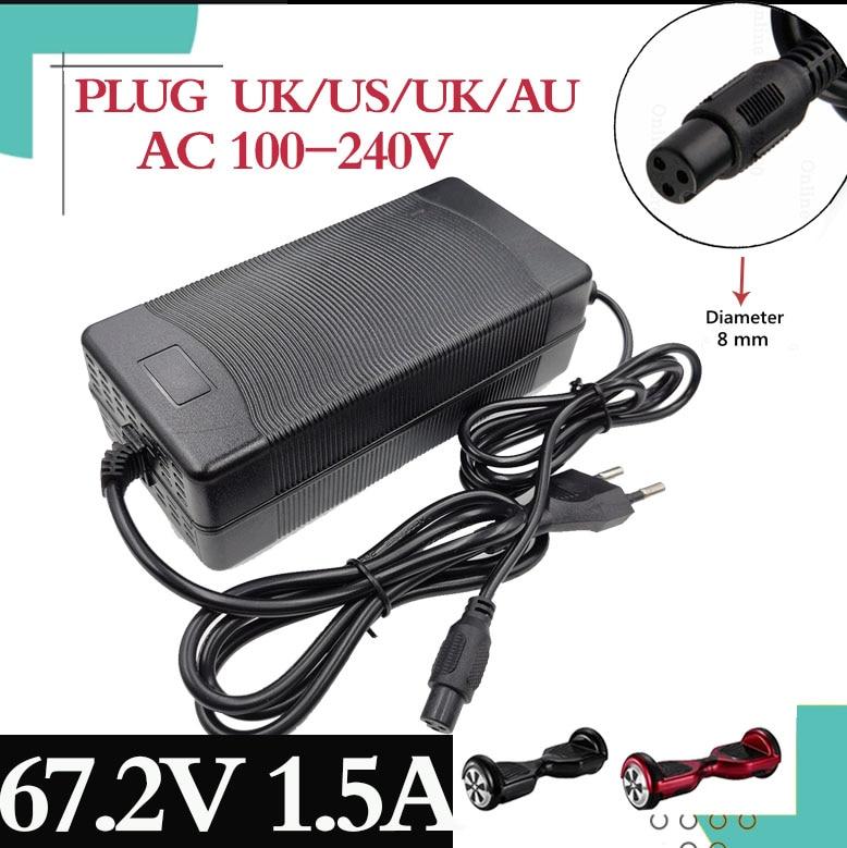 1PCS niedrigsten preis 67,2 V 1,5 EIN ladegerät 60V 1,5 A power adapter für 60V 16S lithium Li-Ion e bike fahrrad elektrische fahrrad batterie
