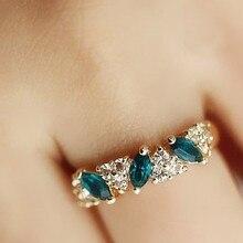 Bague en or Rose avec strass, naturel, blanc, romantique, bijoux de mariage, cadeau saint-valentin