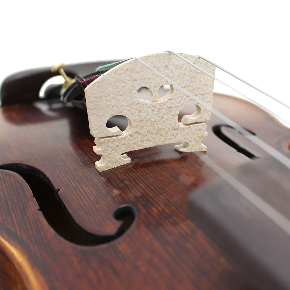 High-Grade 4/4 Solid Wood Acoustic Violin Fiddle With Case Bow Spruce Panel Retro Matte Violin Beginners Musical Instrument Gift enlarge