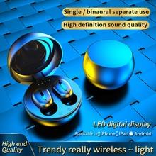 Taida Noise Canceling TWS Headphones Bluetooth 5.0 Wireless Earphones Hifi 9D Stereo Touch Headset W