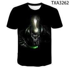 2020 Alienฤดูร้อนเสื้อยืดผู้ชายผู้หญิงเด็ก3Dพิมพ์Tเสื้อแฟชั่นเด็กผู้หญิงเด็กฤดูร้อนแขนสั้นcool Tees