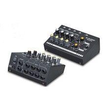 Mezclador de Audio mezclador de audio compacto Mono de 8 canales/mezclador de línea de Audio estéreo con adaptador de corriente EU