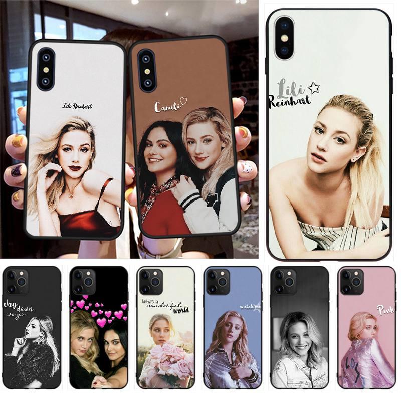 PENGHUWAN Lili Reinhart Riverdale DIY Impresión de cubierta de la caja del teléfono Shell para iPhone 11 pro XS MAX 8 7 6 6S Plus X 5S SE XR caso