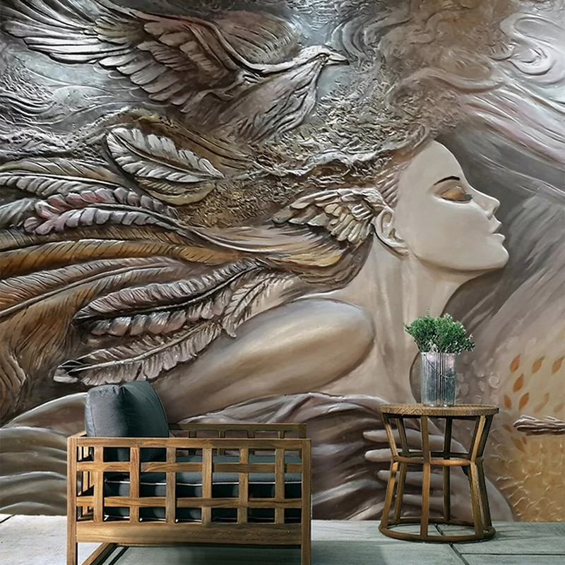 custom photo wall mural 3d wallpaper animals peacock oil painting 3d wall murals living room tv background wall mural wallpapers Custom 3D Photo Wallpaper Creative Embossed Beauty Peacock Wall Art Mural Bedroom Living Room Entrance Wall Painting Wallpapers