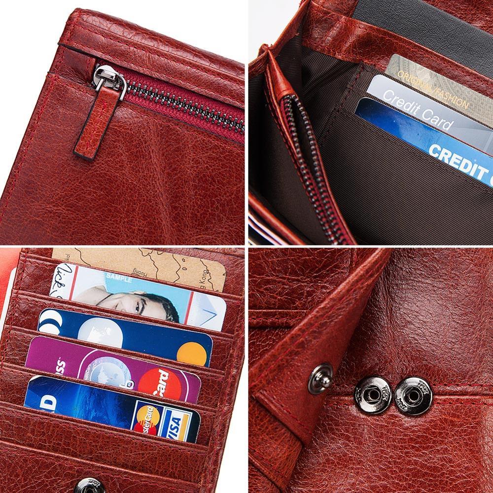 KAVIS Genuine Leather Women Long Purse Female Clutches Money Wallets Handbag Handy Passport walet for Cell Phone Card Holder