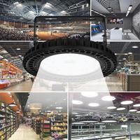 100W UFO LED מפרץ גבוה אורות 110V 220V Waterproof IP65 מסחרי תאורה תעשייתי מחסן Led מפרץ גבוה מנורה