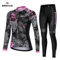 mieyco pro cycling jersey long sleeve roupa de ciclismo feminina mountain bicycle clothing suit mtb bike clothes cycling uniform