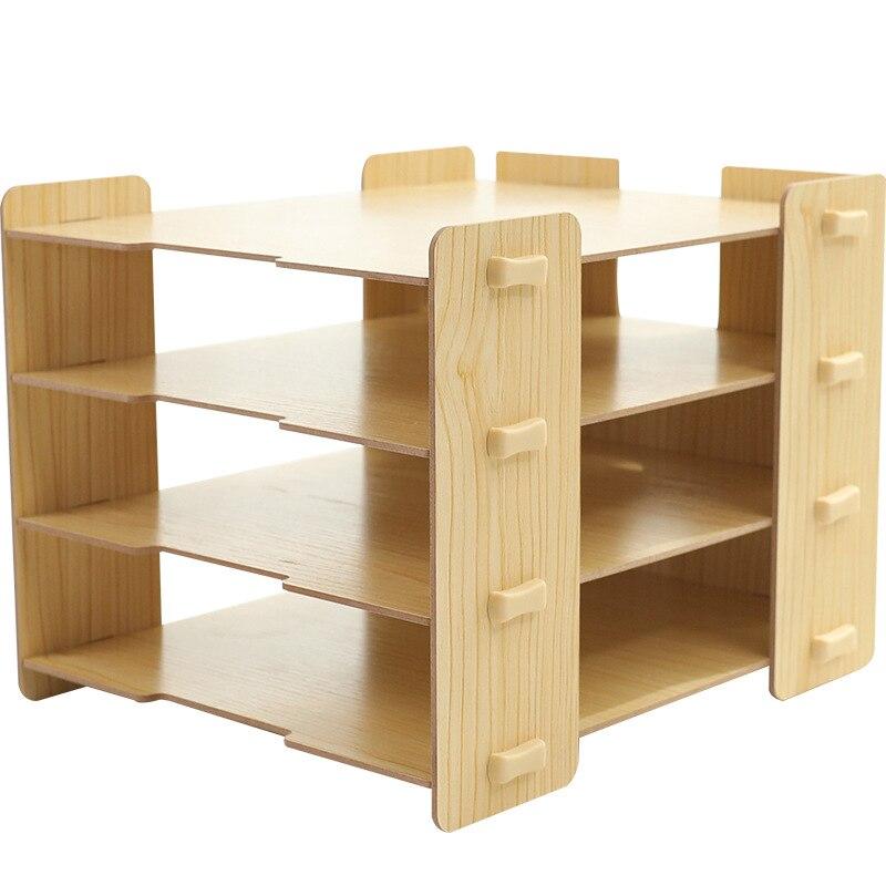 Многослойный деревянный лоток для файлов, настольный органайзер для офиса, школы, Настольный ящик для хранения файлов для бумажных журналов, настольный лоток, аксессуары