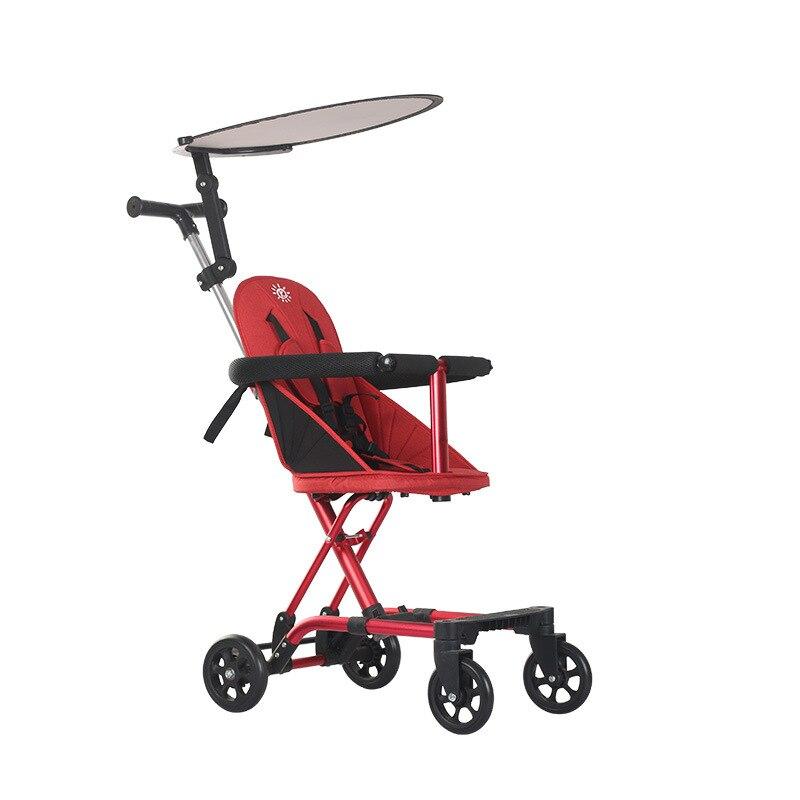 عربة أطفال جديدة بسيطة لون نقي 2020 عربة أطفال مريحة متعددة الوظائف
