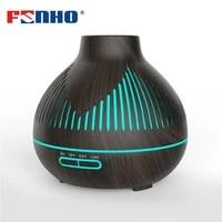 FUNHO diffuseur electrique humidificateur huile essentielle ultrasons USB pour aromatherapie a la maison avec 7 couleurs changeantes LED lumieres 400ml