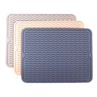 tableware mat drying mats thickness heat silicone dish resistant placemat cup non slip pot holder pad kitchen