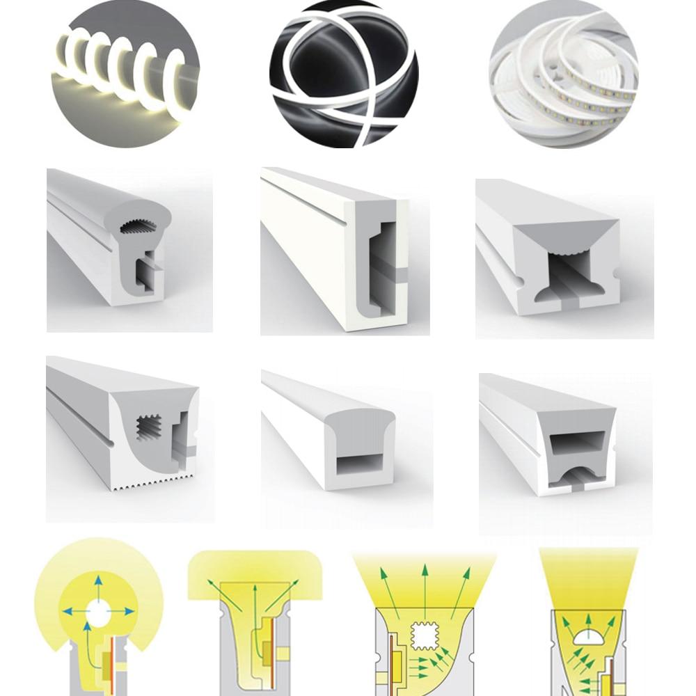WS2812B WS2811 SK6812 LED Neon Rope Tube Silica Gel 1m 2m 3m 4m 5m Flexible Strip Lights Soft Lamp Tube For Decoration
