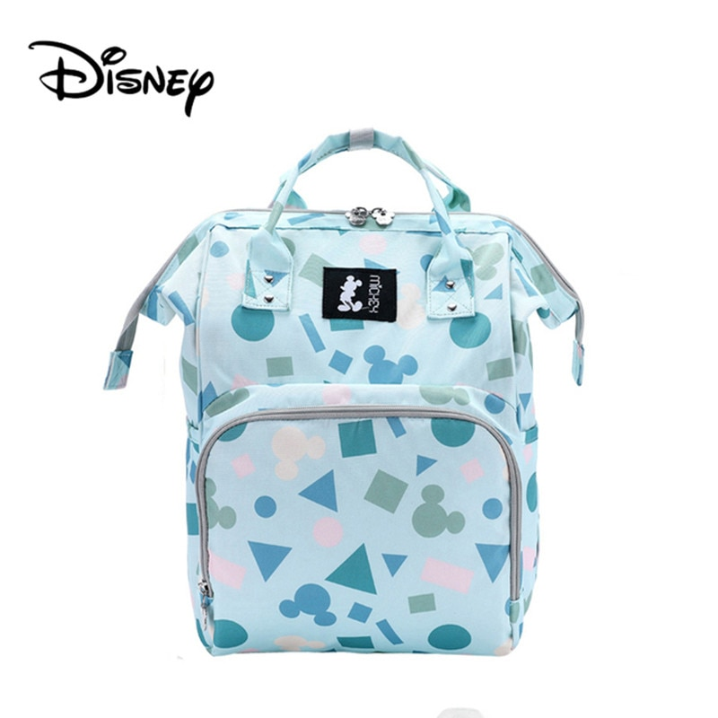 Disney Mickey Backpack Diaper Bag Large Capacity Mommy Organizer Backpack Maternity Travel Nappy Stroller Baby Care Bags for Mom mummy fashion large capacity stroller diaper backpack bag mom nappy multifunctional organizer bags maternity travel backpack