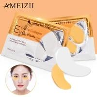 1pair collagen crystal eye mask face mask gel eye patches for eye bags wrinkle dark circles eye pads skin care korean cosmetics