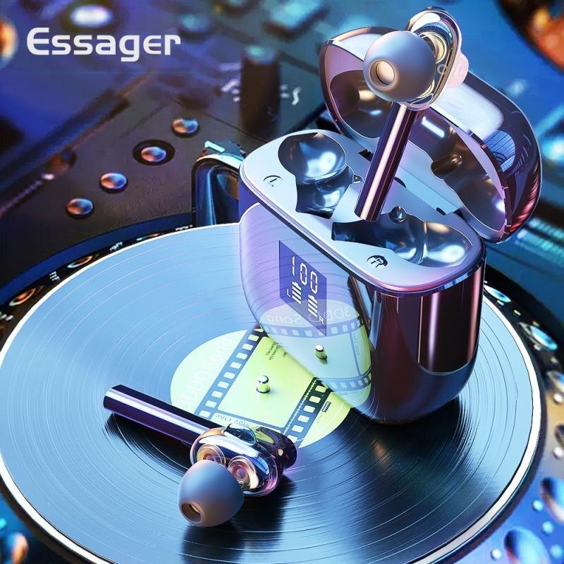 T7 TWS auriculares inalámbricos Bluetooth V5.0 auriculares estéreo de bajo de alta fidelidad a prueba de agua en el oído reducción de ruido Control táctil auriculares