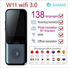 Voyage instantané ia traducteur voix intelligente 138 langues en ligne hors ligne dialecte en temps réel W1 WIFI 3.0 enregistrement traduction HD