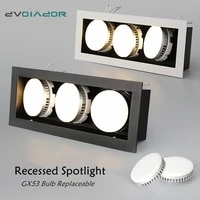 led recessed downlight gx53 bulb replace freely spot led ceiling lamp 1 head2 head3 head indoor room lighting for living room