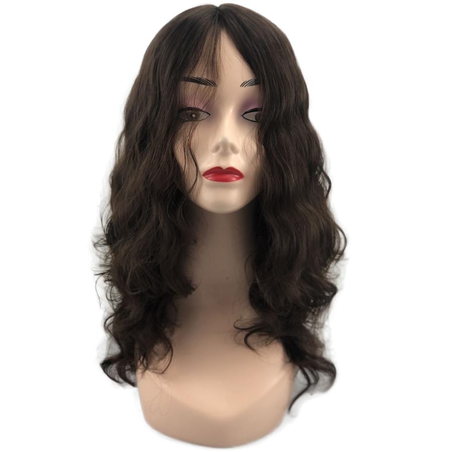 Jewish Wigs European Virgin Human Hair Skin Silk Top Multidirectional Skin Sheitels Kosher Wig Loose Wave Fine Human Hairpiece