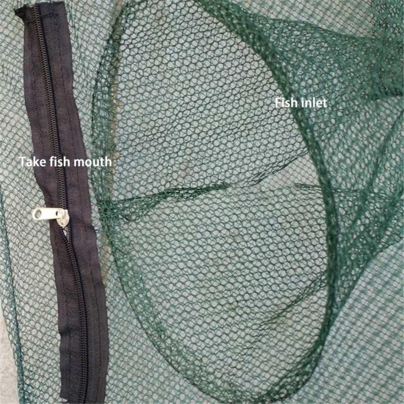 Strengthen Automatic Fishing Net Nylon Foldable Catch Fish Trap for Fishes Shrimp Minnows Crab Cast Mesh Fishing Net Crayfish enlarge