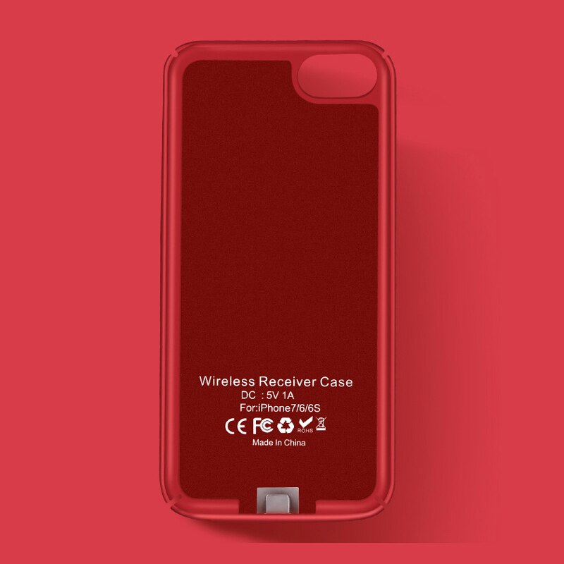 Funda Qi Receptor de Cargador Inalámbrico 5 V/1A para iPhone 6 6s 6 7 Plus transmisor de carga inalámbrico para iPhone 6 6s 7 P