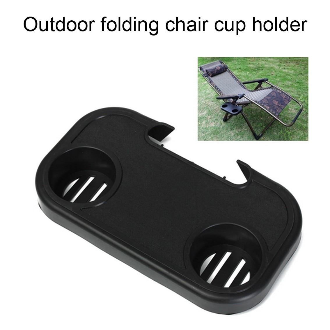 Soporte de tazas portátil plegable para Camping Picnic al aire libre soporte de botella de agua para silla de jardín de playa bandeja lateral para accesorios de bebida #30
