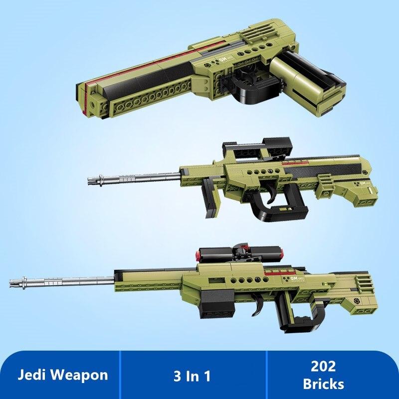 Arma de construção tijolos pistola rifle cidade soldado blocos meninos brinquedo para crianças presente 3 em 1 armas 202 pçs