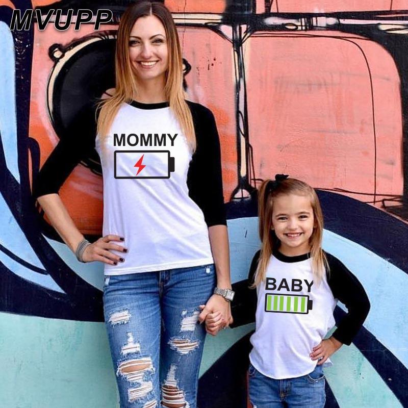 Camiseta manga larga de retazos padre madre hija hijo apariencia familiar trajes a juego mamá y yo bebé niña ropa mamá niños