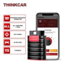 Thinkcar ThinkDiag для всех автомобилей, бесплатное обновление, полная система, диагностические инструменты, 15 сбросов, Obd2 Автомобильный сканер, Bluetooth программатор, диагностика