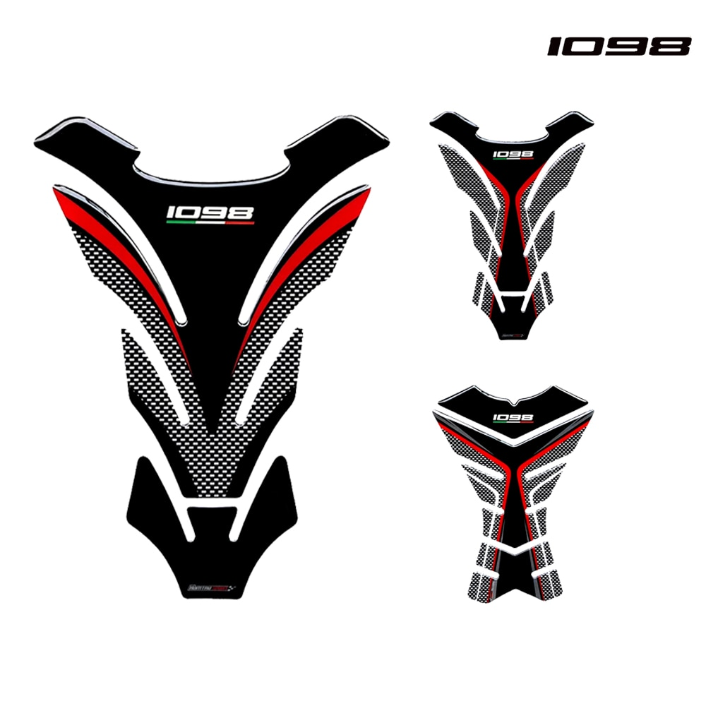 3D Motorcycle Tank Pad Protector Case forDucati Streetfighter 1098 1098R 1098 Tankpad Decals