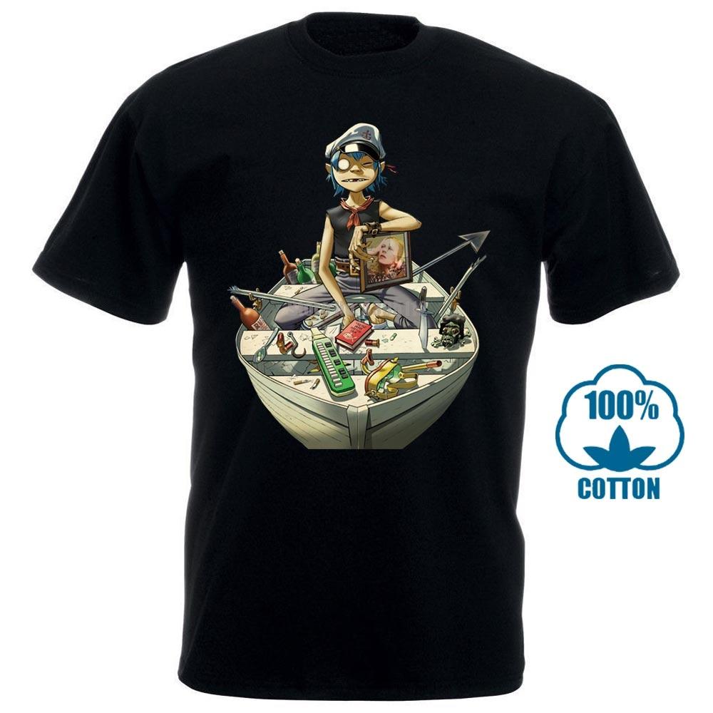 Camiseta de hombre Gorillaz, camiseta de Anime para hombre, divertida camiseta de manga corta 010845