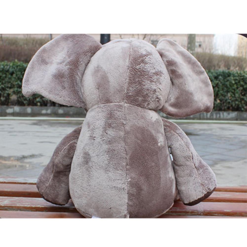 Decoración del hogar novedad juguete de felpa lindo Appease Playmate suave fiesta regalo dibujos animados Animal elefante estilo coche Interior muñeca de peluche niños