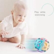 0-12 شهر لينة المطاط بيبي الكرتون الرمال ساتل اليد يطرق حشرجة الدمبل في وقت مبكر لعبة تعليمية للطفل اليد جرس ألعاب الأطفال