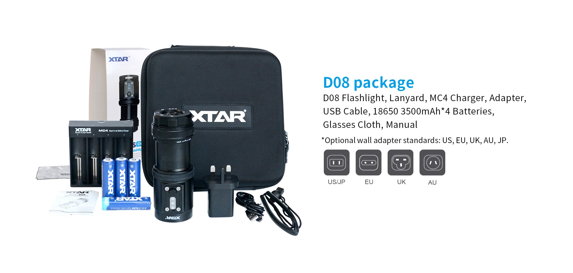 Original XTAR D08 WALRUS Diving Flashlight max 2000 lumen underwater dive torch CRI of 95 with red light Photography light enlarge