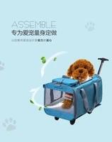 pet carrier backpack with wheels for dogcat multiple uses catdog travel carrier bagfashion trolley roller bagtravel bag